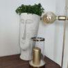 Keramikinė žvakidė su stiklu (auksas)