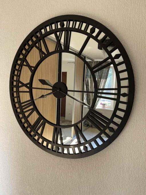 """Veidrodinis laikrodis """"Grand Central"""" (juodas) 10"""